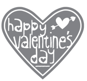 Happy Valentine's Day, single stamp incl. in Valentine Treat bundle