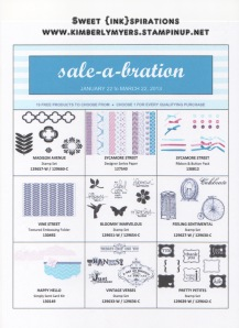 Sale-a-bration page 1
