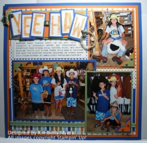 Scrapbook - Yee Haw - Artisan Award 2008 Submission
