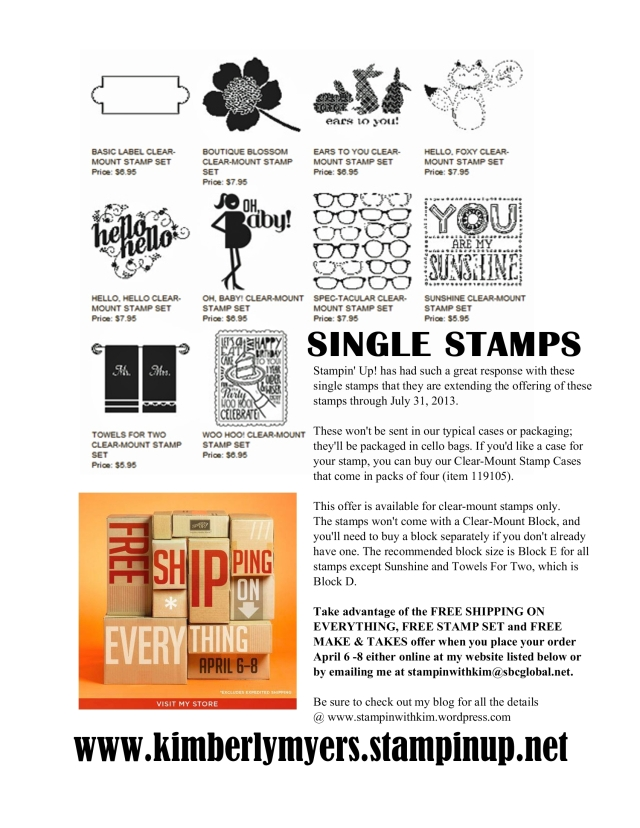 Kimberly Myers - Single Stamps