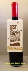 Stampin' With Kim - Happy New Year Wine Bottle Tag