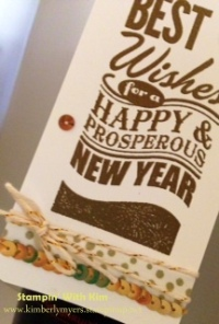 Stampin' With Kim - Wine Bottle Tag Close Up