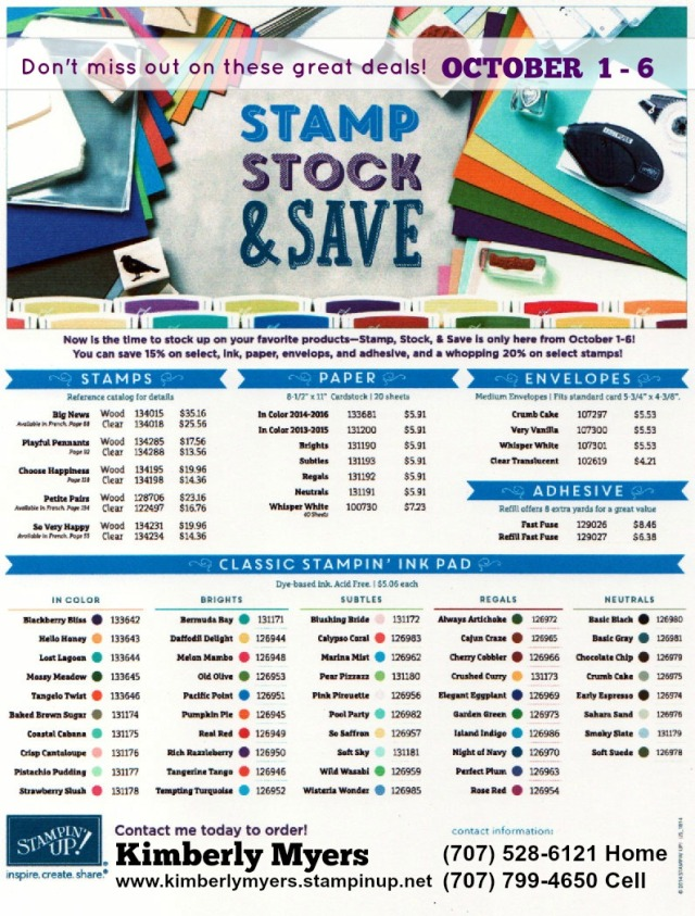 STAMP STOCK & SAVE with Kimberly Myers