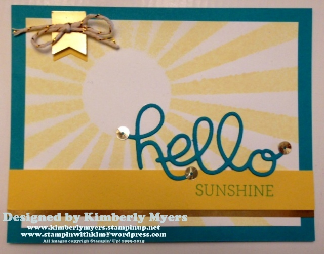 Hello Sunshine by Kimberly Myers