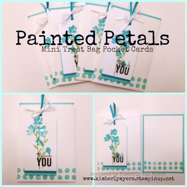 Painted Petals Mini Treat Bag Pocket Cards