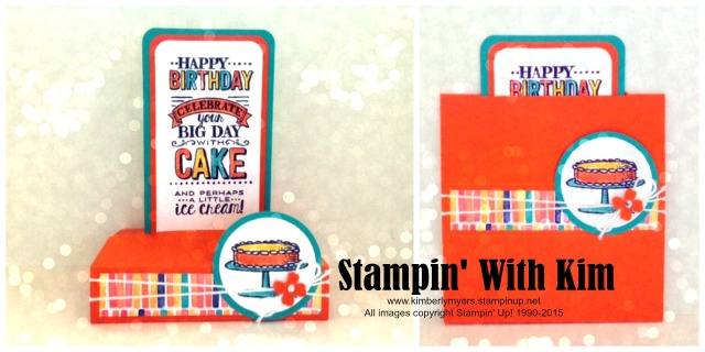 Big Day Free Standing Card by Kimberly Myers