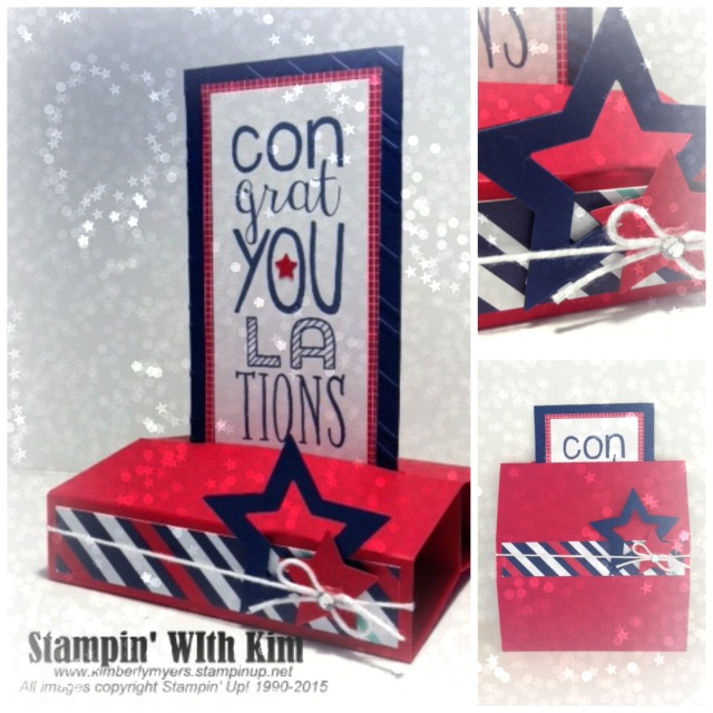Congrats! Free Standing Card by Kimberly Myers