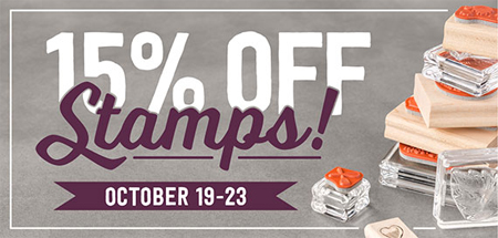 Oct 19-23 Stampin' Up! Stamp Sale - 15% off #dostamping